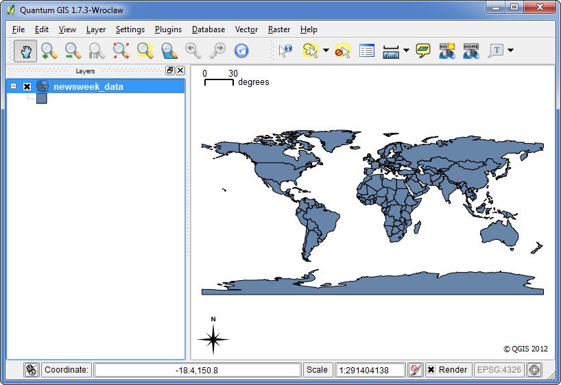 Quantum gis qgis tutorials tutorial styling vector data in qgis open the shapefile in qgis using layer add vector layer when prompted to choose a crs choose wgs84 from the list gumiabroncs Gallery