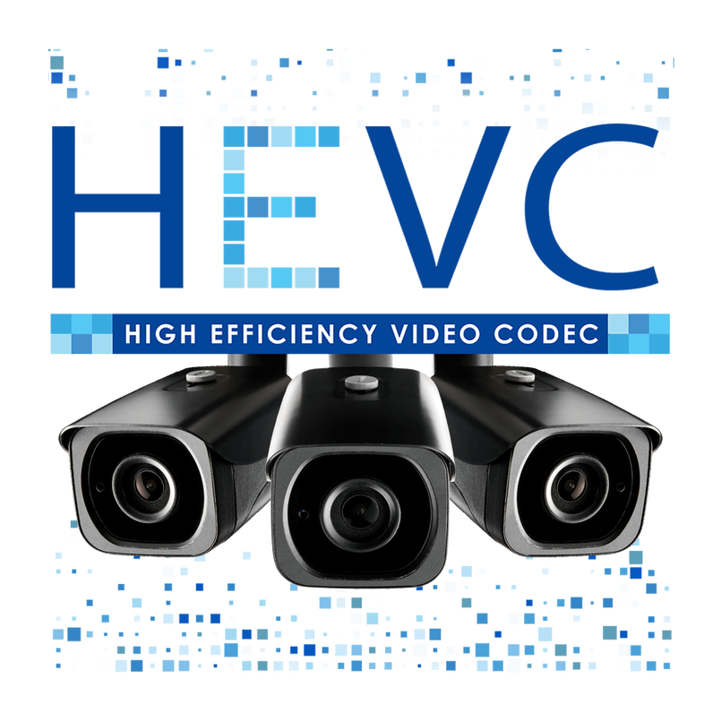HEVC logo H.265 security camera model LNB8921BW