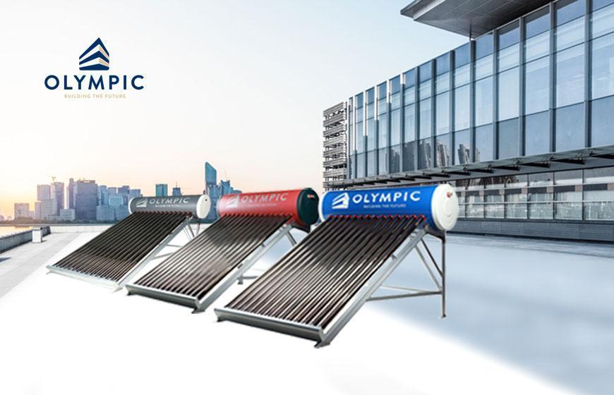 Máy nước nóng năng lượng mặt trời Olympic với thiết kế thời thượng