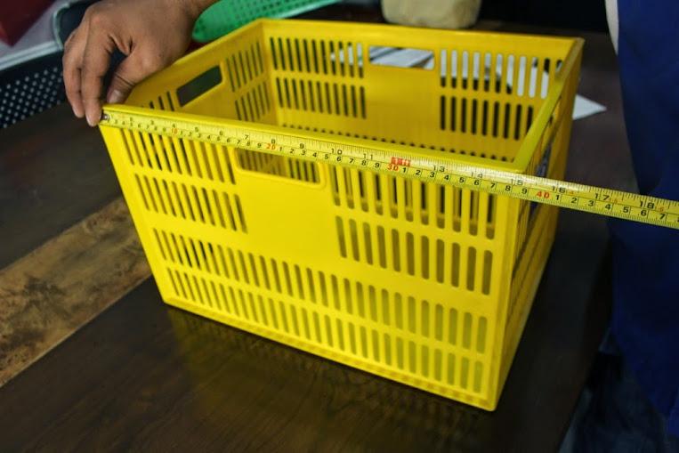 JUAL KERANJANG KONTAINER PLASTIK LOBANG TIPE 2278 L | Green Leaf | www.rajarakminimarket.com | RAJA RAK INDONESIA | JAKARTA