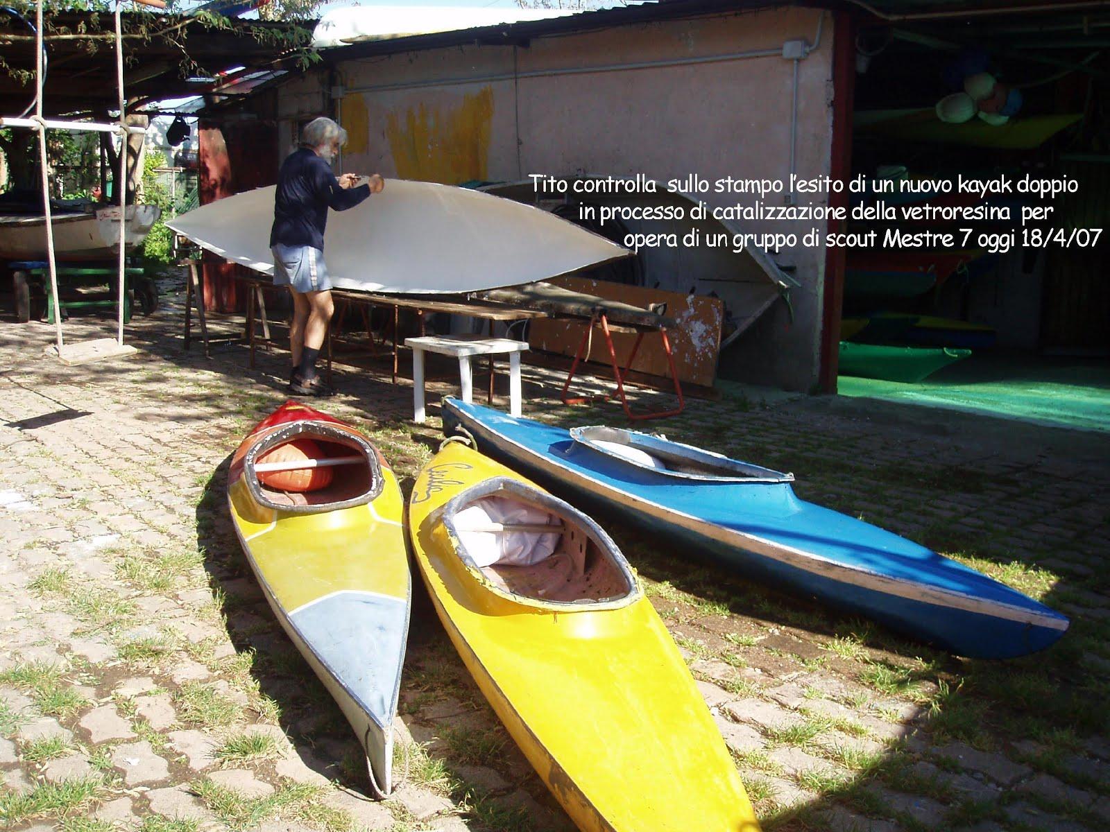 Costruzione Kayak Vetroresina