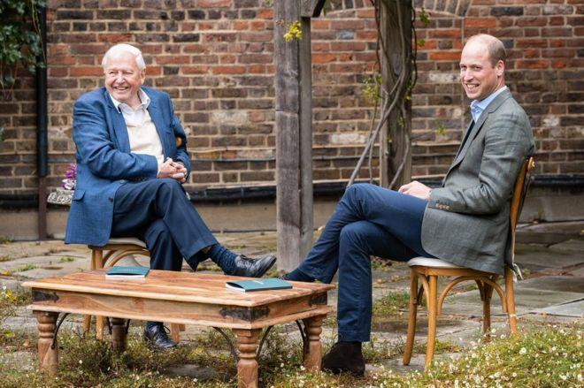 David Attenborough and the Duke of Cambridge