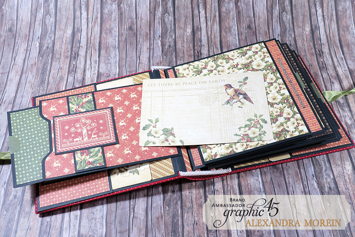 Winter Wonderland Mini Album, Project by Alexandra Morein, Product by Graphic 45, Photo 7.jpg