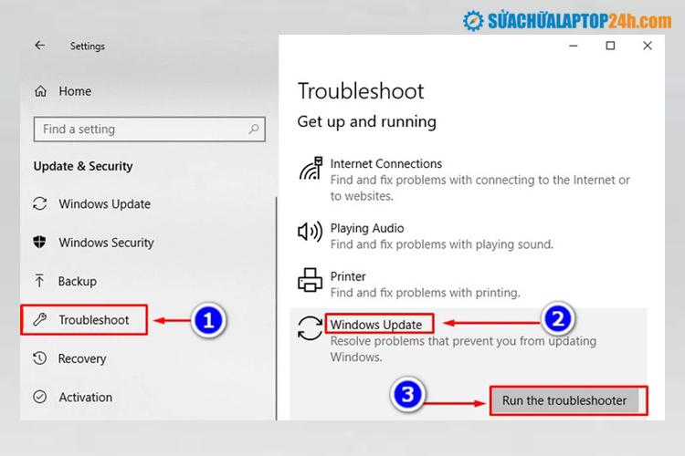 Chọn Windows để kiểm tra fix lỗi