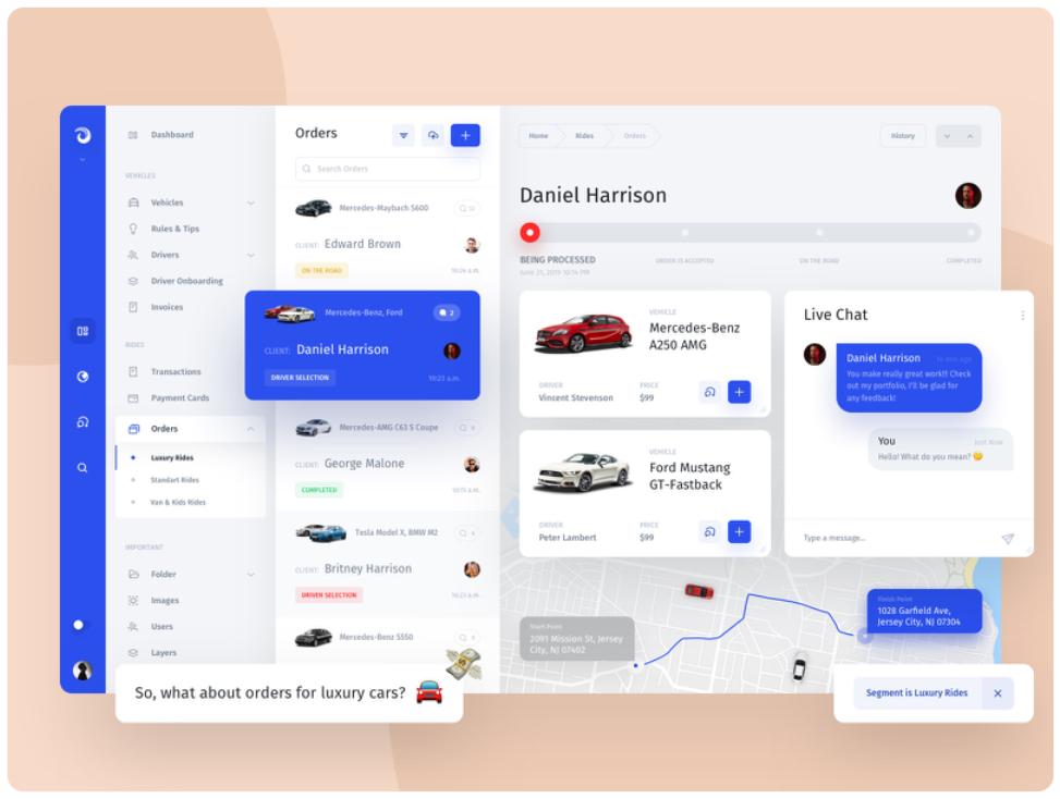 Jet Admin - FlexView, UI design