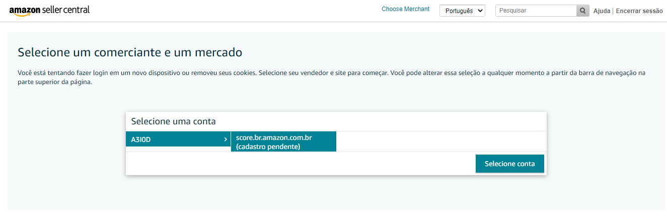 para entender como vender na Amazon é necessário criar uma conta na plataforma