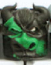 Artkey - Bull - Black & Green