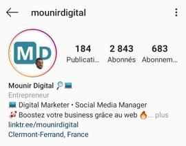 Mounir Digital - Comment rédiger une biographie Instagram attractive - Image 1