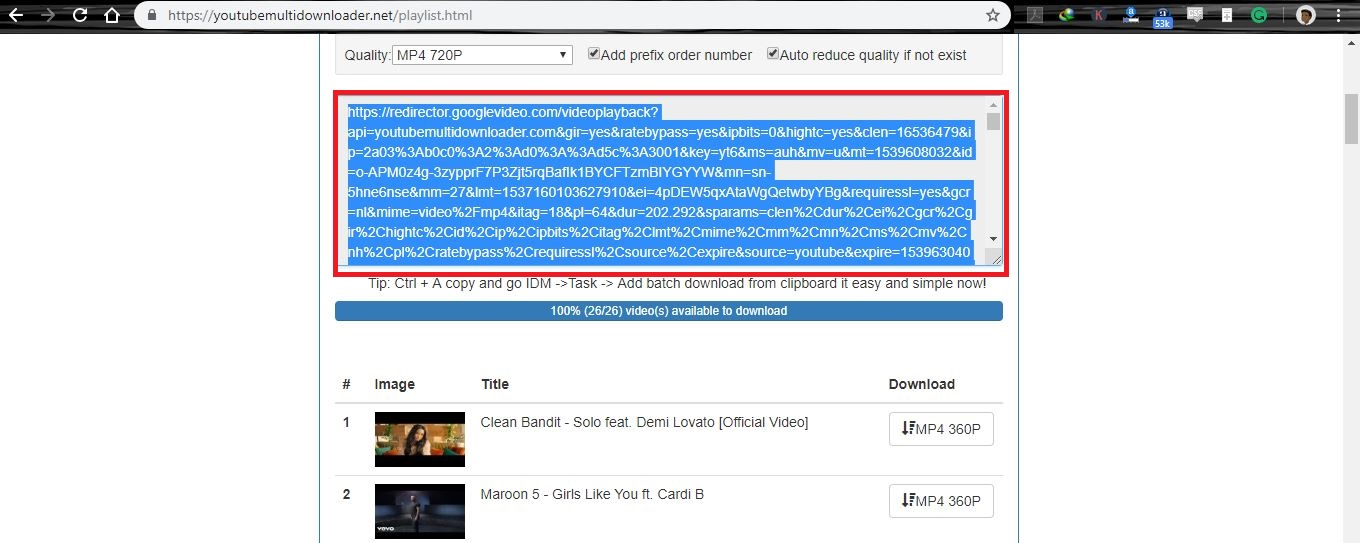 download a youtube playlist at once with youtube multidownloader