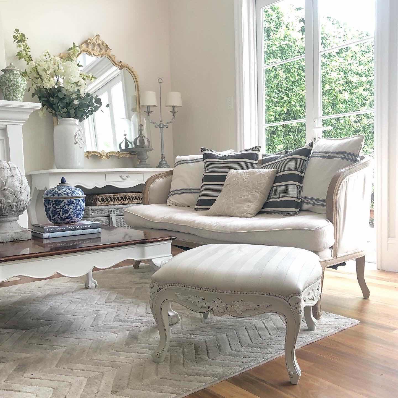 lilyfield life chalk paint fabric upholstery ottoman