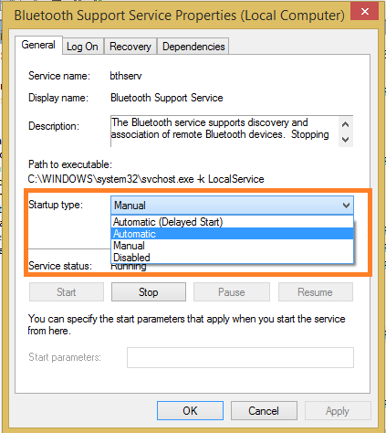 Fix Bluetooth Issues on Windows 10 with run.