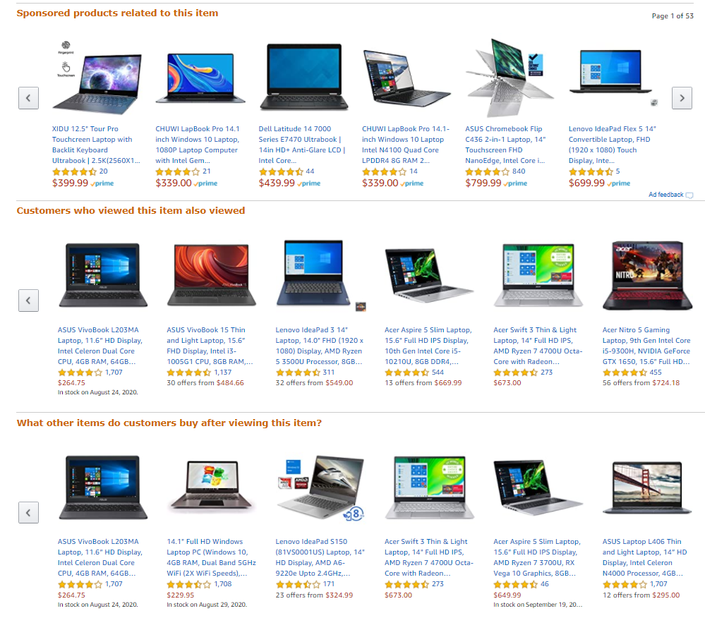 Amazon.com recommendations