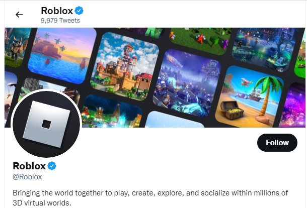 Roblox's Official Twitter Account