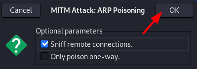 MITM Ettercap ARP Poisoning Settings. Source: nudesystems.com