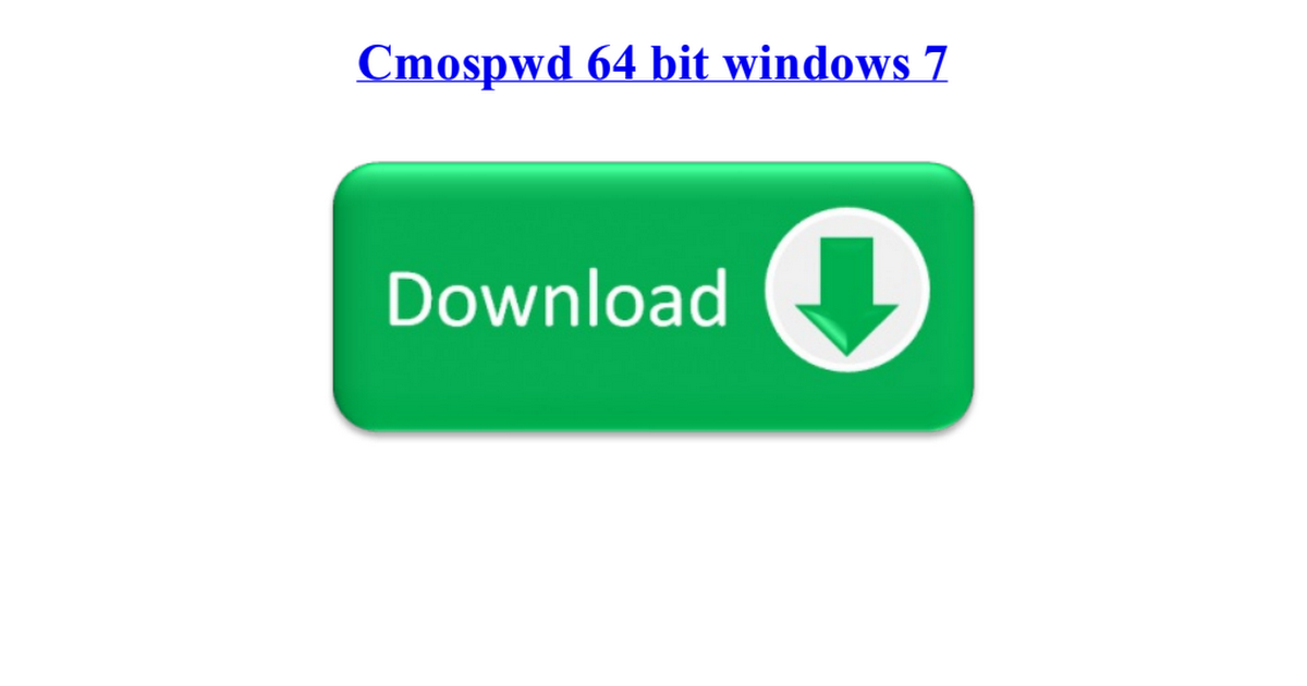 cmospwd 64 bit windows
