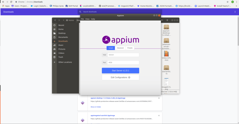 Appium running on a linux system