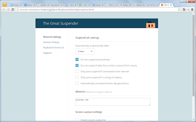 Image result for The Great Suspender chrome extension