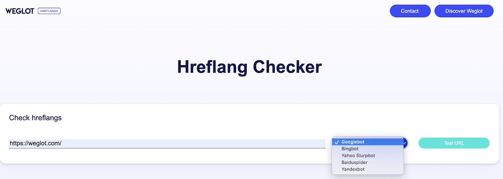Select the search engine to check hreflang tags are set up