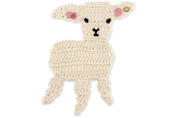 Gucci Embroidered lamb brooch