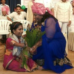 Felicitating Mamta for bravery and smile.