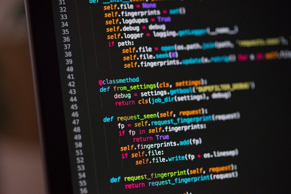 Image of code on a computer screen.