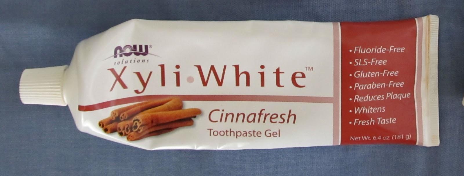 Освіжаюча зубна гель-паста Xyliwhite від Now Foods з корицею