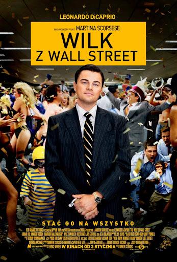 Polski plakat filmu 'Wilk Z Wall Street'