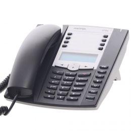 Aastra - analogový telefon s LCD,  tlačítko příjmu a ukončení hovoru pro náhlavní soupravu