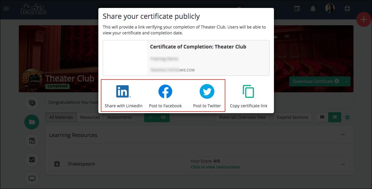 Teamie Nembus (2.13) - certificate social media