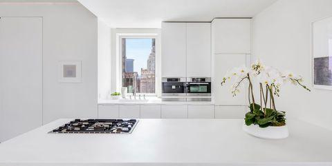 White, Room, Interior design, Property, Furniture, House, Floor, Building, Architecture, Table,