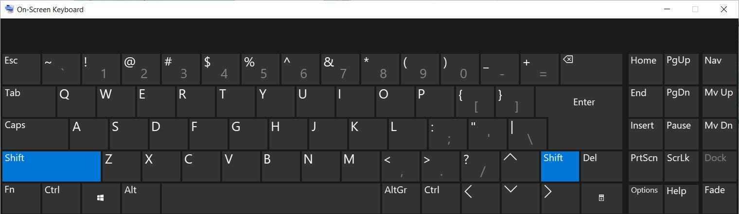 The On-Screen Keyboard on Windows 10