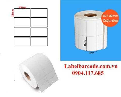 giấy in mã vạch 2 tem 35x22mm