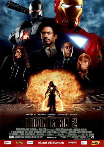 Przód ulotki filmu 'Iron Man 2'