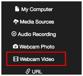 Webcam video option in VoiceThread