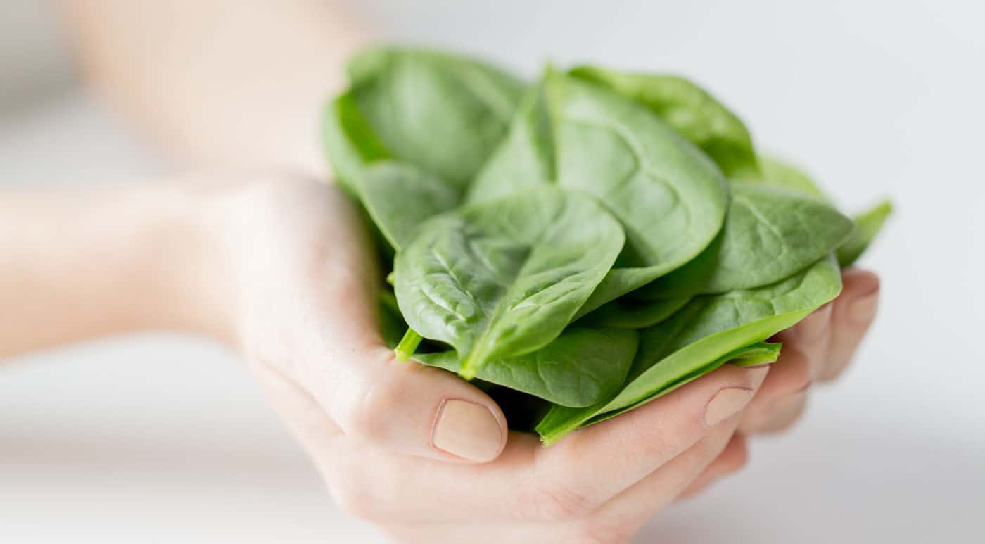 One cup of spinach comes with 36% of your daily iron, 39% of your magnesium, and 24% of your calcium for only 41 calories.