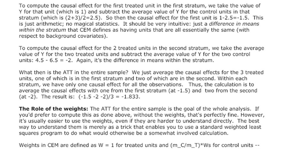 an explanation of weights in cem google docs - Examples Of Satire Essays