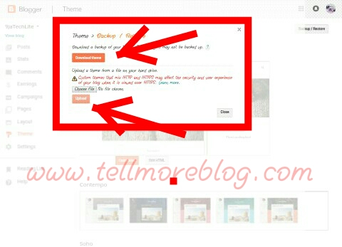 How to upload a custom theme for blogger blogs. 2