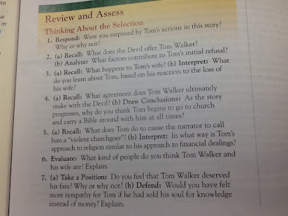 Analysis Essay On The Devil And Tom Walker