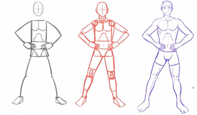 power pose sketch