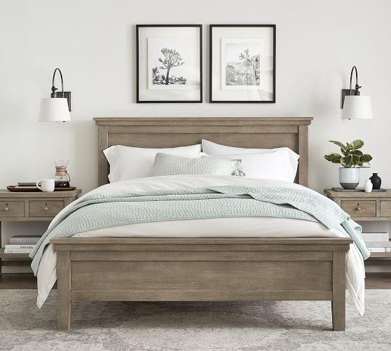 DIY Farmhouse King Bed Frame Ideas
