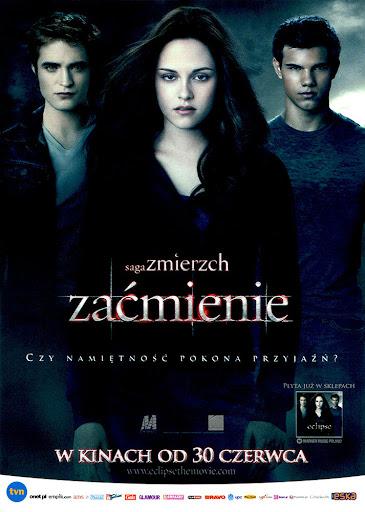 Przód ulotki filmu 'Saga Zmierzch: Zaćmienie'