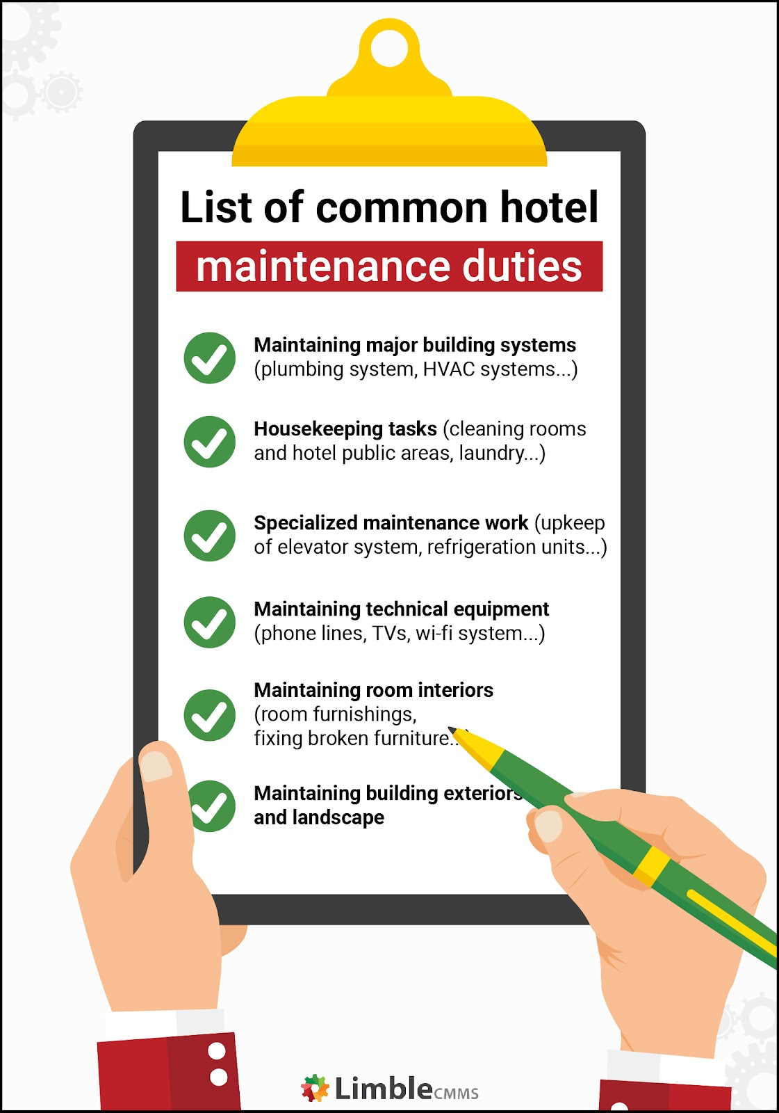 what does maintenance do in a hotel