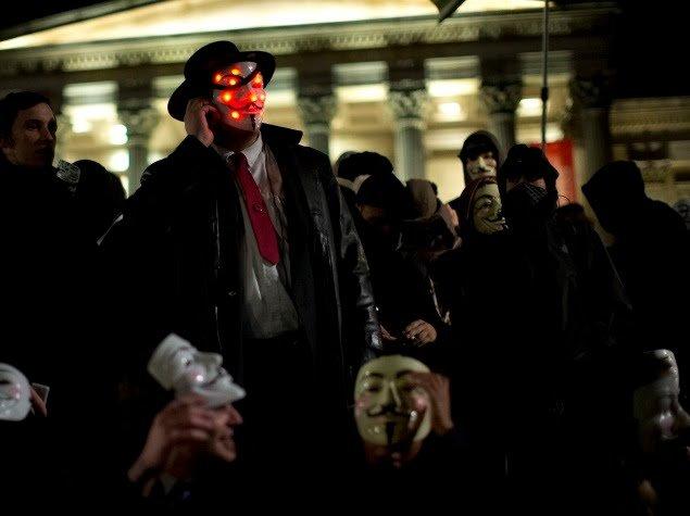 চিত্র: হ্যাকিং জগতের Team Anonymous।