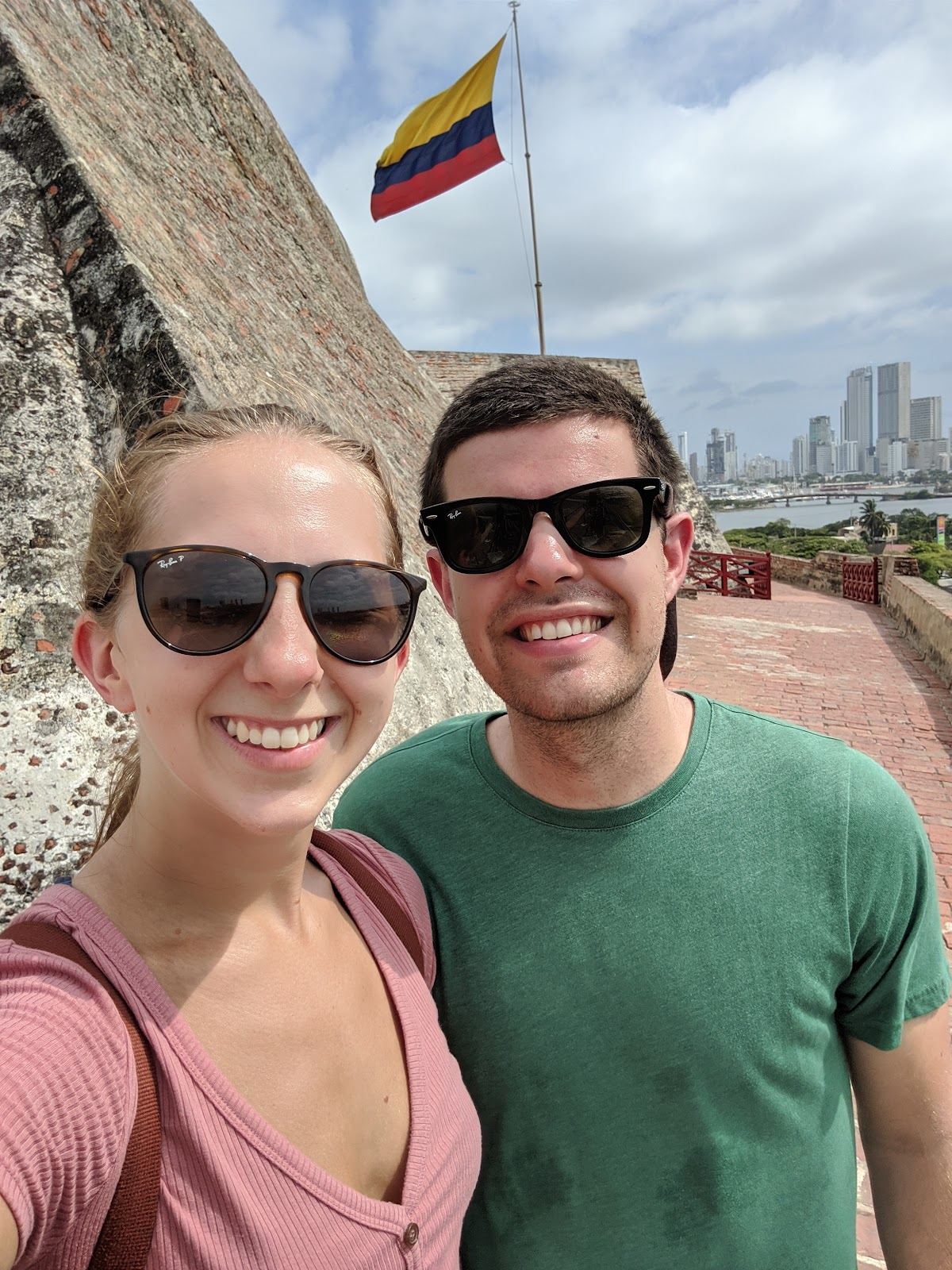 Erin and Brandon at Castillo de San Felipe in Cartagena, Colombia.