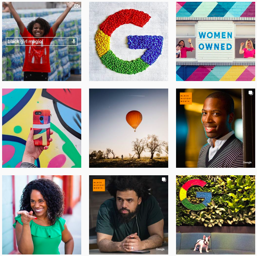 google instagram post grid