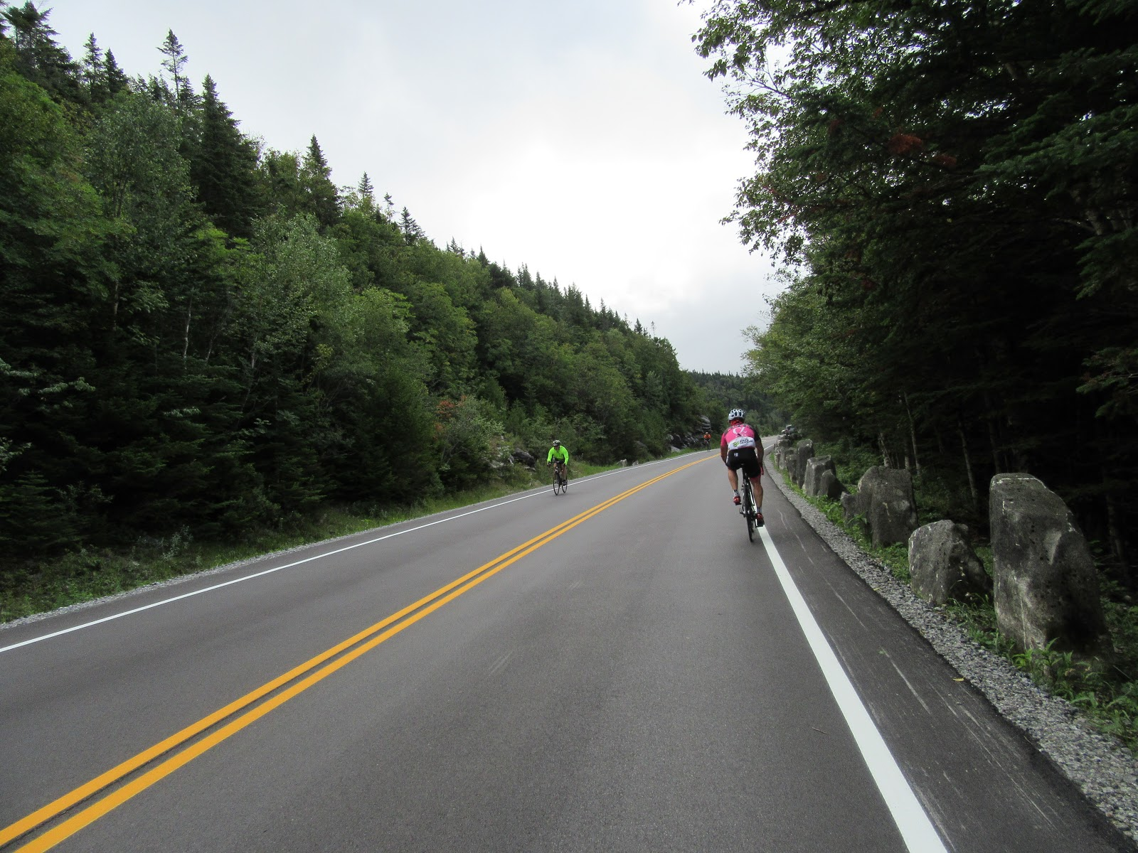 Climbing Whiteface Mountain by bike - steep grade sign.