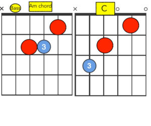 Common Notes between the C and Am chord