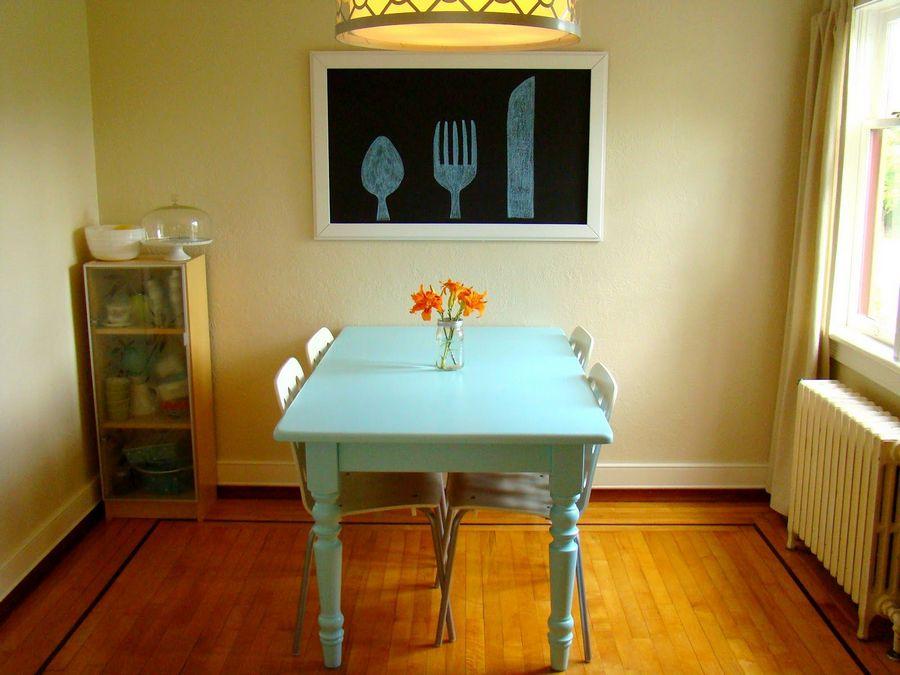Покраска кухонного стола