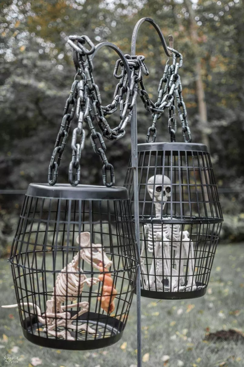 Hanging Cages: These 30 DIY Halloween Decorations That Are Wickedly Creative will save you money and allow your creativity to flourish