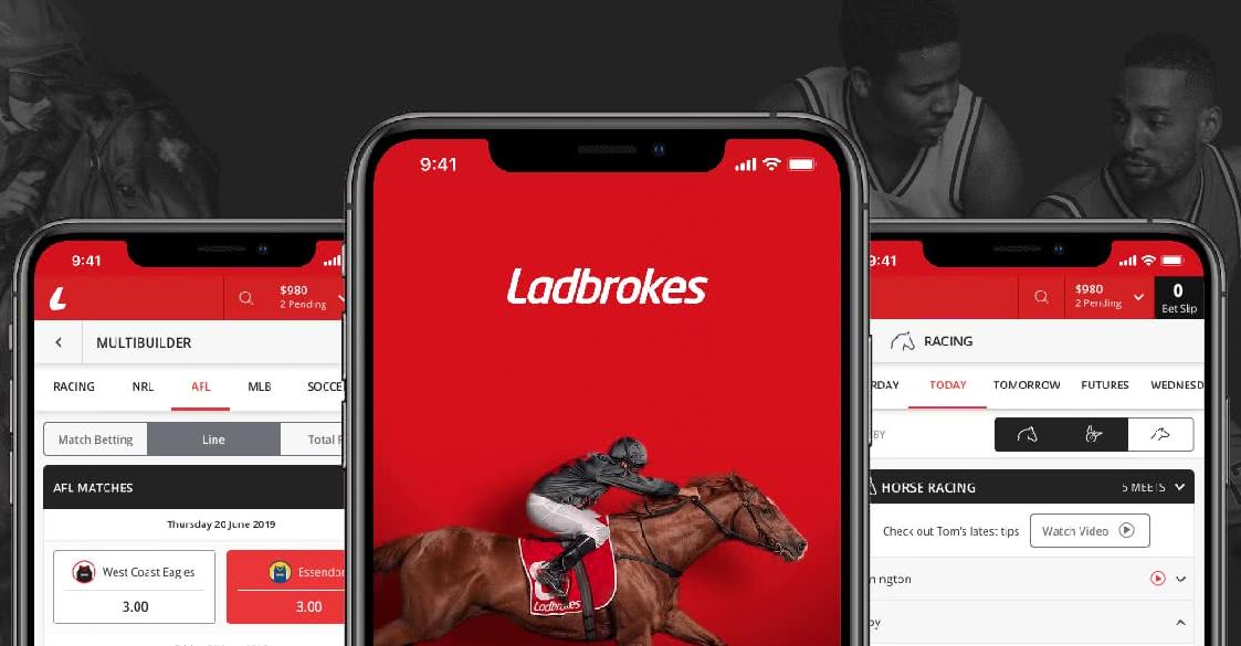 Ladbrokes мобильное приложение для Андроид и iOS
